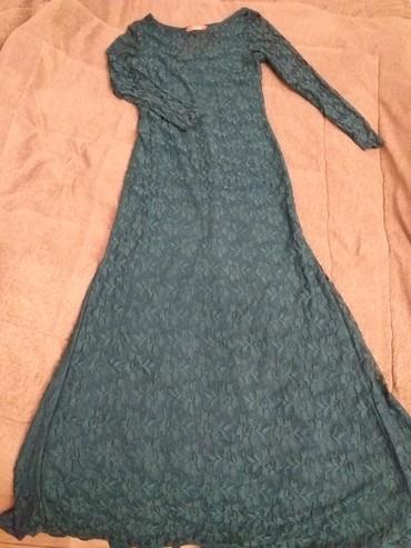 Вечернее платье италия, со шлейфом, б/у один раз, р 38-40 евро, 1500 с в Бишкек