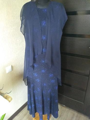 вечернее платье 52 54 размер в Кыргызстан: Продаю платье, трикотаж-салют, на хорошем трикотажном