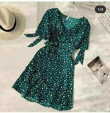 Платье 1100 сом. Размер 42-46 очень симпатичное. На лето