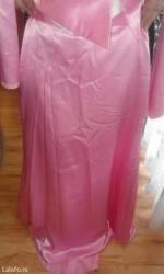 Suknja-svilena-broj - Srbija: Svilena duga suknja roze boje sa korsetom(dobija se i svileni rozi