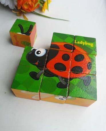 """развивающие кубики в Кыргызстан: """"КубикиИзготовлены из дерева и безопастных красокУчим животных"""