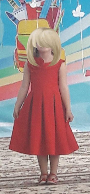 платье футляр на выпускной в Кыргызстан: Продаю красивое платье на девочку 6-7 лет. шили на заказ. одевали один