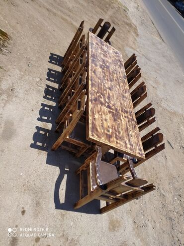 kafe üçün mebel - Azərbaycan: Masa ve oturacaqlarin hazirlanmasiMaterial wam agaciBiz vasiteci nede
