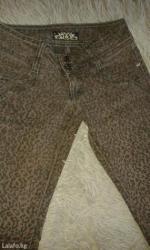 Джинсы стрейч коричневые с леопардовыи принтом р-р 25 в Бишкек