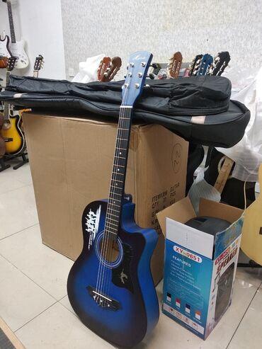 Гитары - Азербайджан: Yeni Gitara klassik və Akustik Keyfiyyətli ölçüdə Çanta hədiyyə
