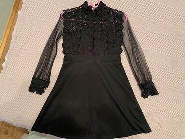 черное длинное платье в Кыргызстан: Чёрное милое платье, размер С, надето один раз, окончательно