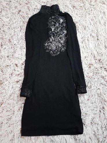 Crna-tunika - Srbija: Prelepa crna tunika sa srebrnim detaljima, idealna za sve prilike