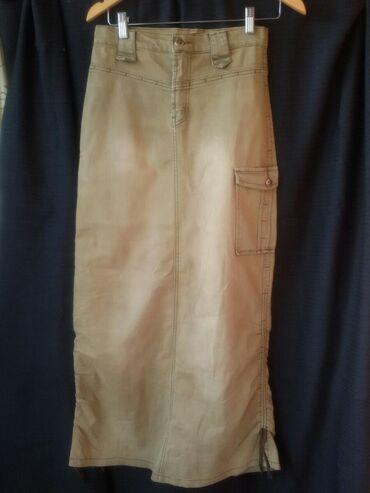 бежевое платье в пол в Кыргызстан: Продам фирменную юбку в пол, варенная джинса стрейч, размер 42