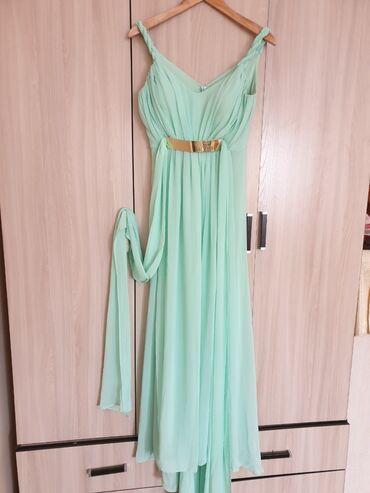 Продам очень милое платье. Цвет свежей мяты, в греческом стиле, с