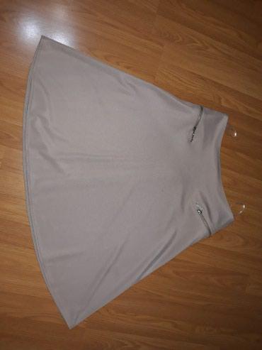 Suknja-hm-pamuk-elastin-cm-struk - Srbija: SNIZENJEEEEE . Bež suknja,duz.59 cm,struk 38 cm,sastav 95 %