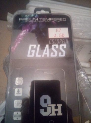 защитные пленки samsung в Кыргызстан: Защитное стекло на Samsung E7 3шт 50 сом