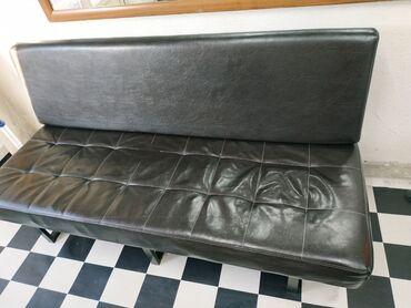 dva divan kresla в Кыргызстан: Продаю коженный диван состояние хороший и очень удобный