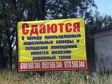 складские помещения в Кыргызстан: Сдаются в аренду промышленные морозильные камеры и складские помещения