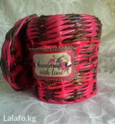 деревянные игрушки ручной работы в Кыргызстан: Баночка плетеная, ручной работы. можно использовать и для сыпучих