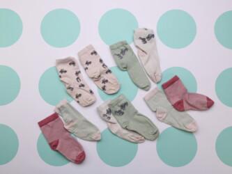 Детский набор носочков, 5 пар    Высота носочков около 18 см Состояние