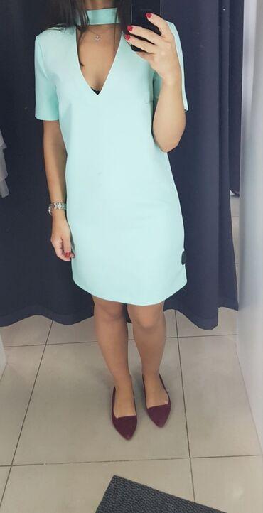 Личные вещи - Кировское: Берюзовое платье .Одевала один раз.Отдам за 500сом))XL