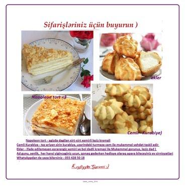 Her cur tort ve Kurabiye indi Sifaris edin!Napoleon tort - agizda