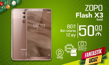 Zopo flash x3 gold - Bakı