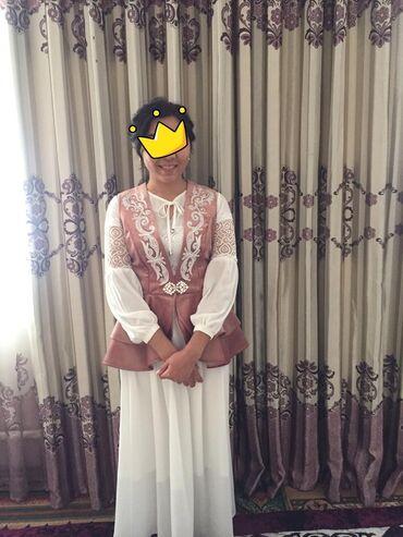 На прокат национальное платье, в новом состоянии одета лишь один раз