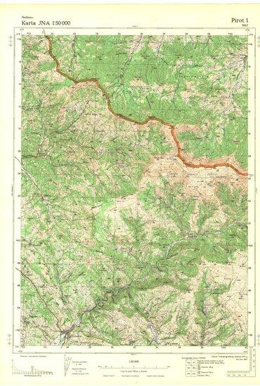 Digitalizovane topografske karte srbije u razmeri 1:50000 - Vrsac