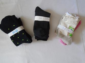 Tri paketa po tri para novih dečijih čarapa, veličine od 31 - 35. - Belgrade