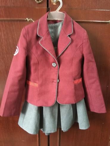 Школьные блузки - Кыргызстан: Школьная форма для девочек, полный набор, деми и зимняя, б/у, на 6-8