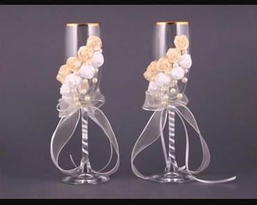 Развлечения - Шопоков: Оформление свадебных бутылок и бокалов. Цена от 500 сом
