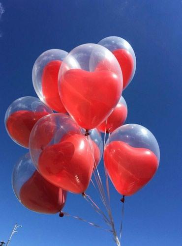 Сердца в прозрачном шаре в Бишкек