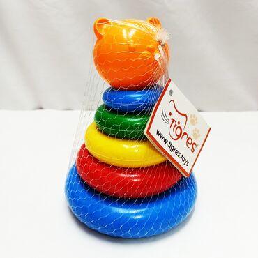 Пирамидка кошечка - малышовая игрушка состоящая из 5 колец основных