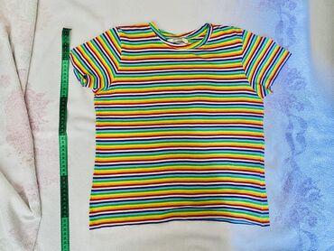 Retro, vintage, striped, rainbow, радуга, t-shirt