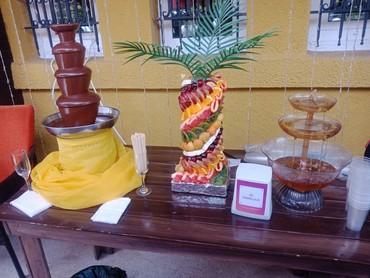 Шоколадный фонтан и фруктовая нарезка в Бишкек
