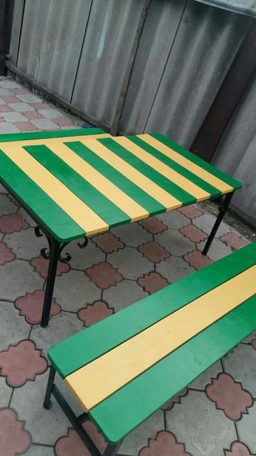 столик детски в Кыргызстан: 8000сом продаю столик со скамейками детский