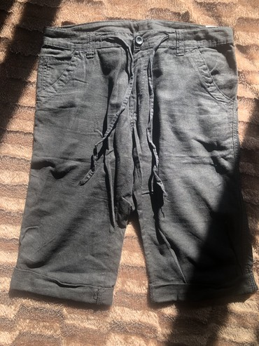 мужские шорты в Кыргызстан: Мужские летние Льняные шорты в отличном состоянии, размер м