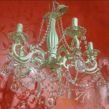 Люстра количество лампочек 5 камни хрустальные качество отличное также