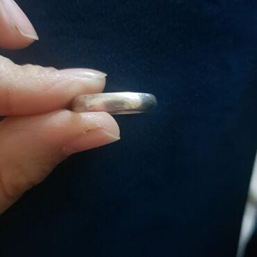 Обручальное кольцо серебро 19 размер