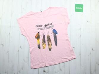 Женская футболка с принтом Carla Mara,р.XS Длина: 61 см Пог: 48 см Мат