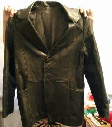 Кожаный мужской пиджак в хорошем сост. в Бишкек