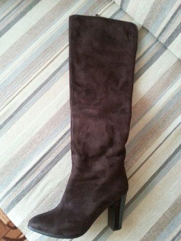 Личные вещи - Кок-Ой: Продаю сапоги-деми MIA, натуралка, замша. До колен длина. 39 размер
