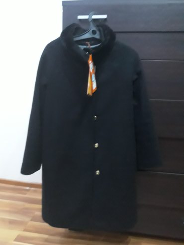Новое женское пальто кашемир. Воротник стойка, есть норковый манжет