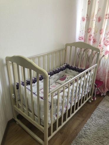 Детская кроватка ! С матрацем В в Бишкек