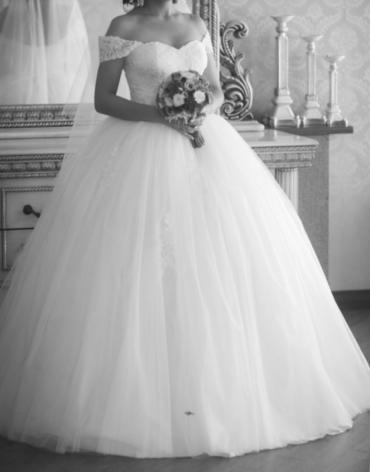Продаю или сдаю свадебное платье! Одевалось один раз. в Бишкек