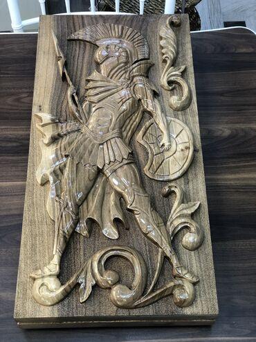 Gladiator Nerd Temiz qoz agacidir Bütöv gövdeden duzeldilib kusok ve