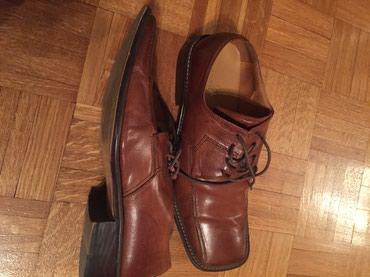 Muska kozna cipela jednom obuvena u odlicnom stanju br 45 Italijanska - Belgrade