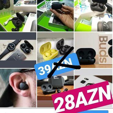 наушники беспроводные в Азербайджан: Buds şok endi̇ri̇m qi̇ymət 28azn olduçeşi̇dli̇ aksessuarlarin