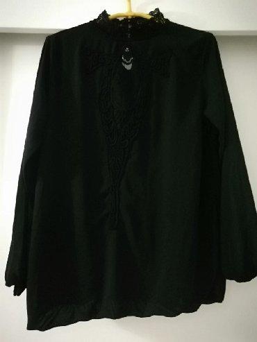 Crna bluza sdugim rukaviz italij - Srbija: Crna bluza,nova,veličina 38/40,vrlo elagantan model