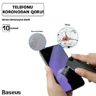 ▶ Original Baseus məhsulu.▶ Sprey şüşədə telefon ekranı silmək üşün