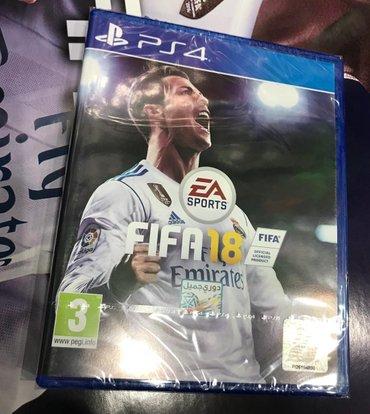Bakı şəhərində Playstation 4 üçün fifa18 oyunu  rus və ingilis dilində