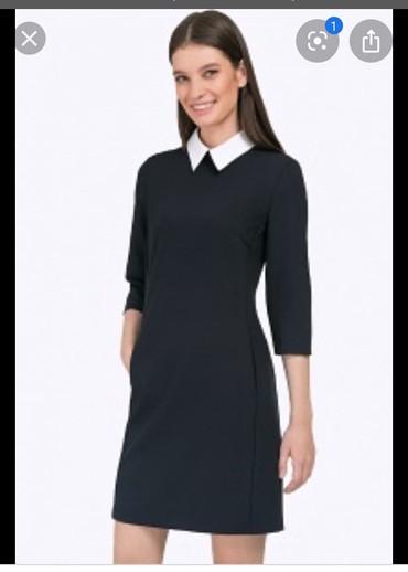 Платье в отличном сост.42,44размер с белым воротником