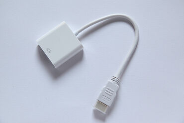 Адаптер переходник HDMI-VGA HD, длина 16 см