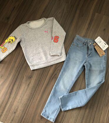 Модный лук для девочки 4-6 лет. Свитшот Puma kids (оригинал)джинсы